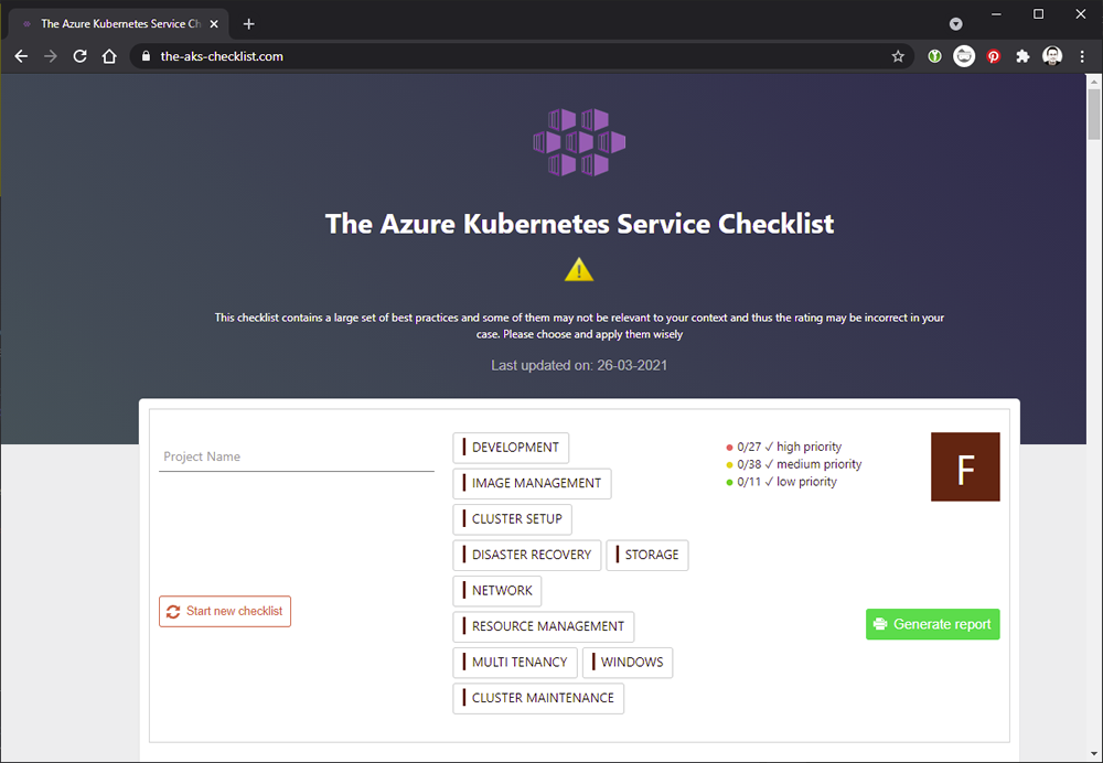 the-aks-checklist