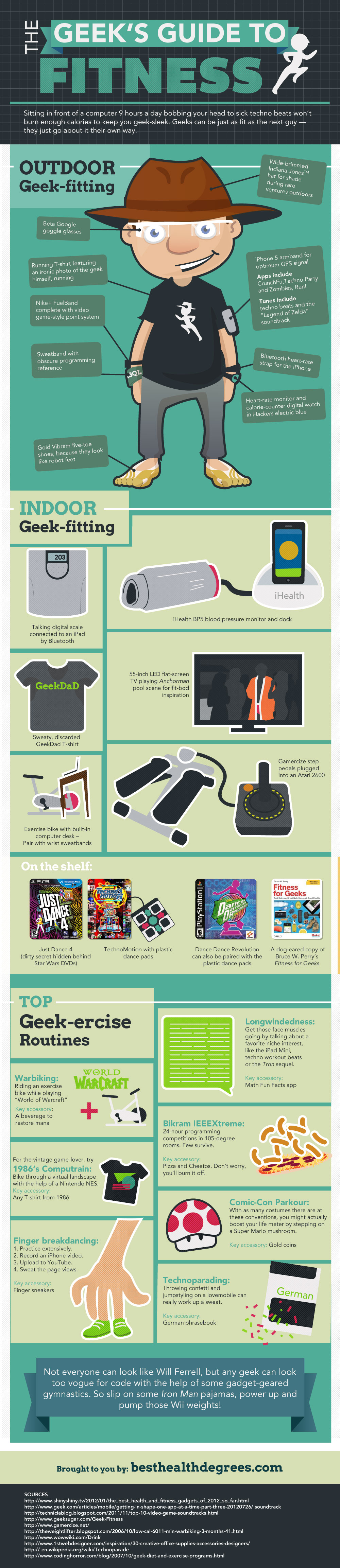 infographie sport geeek