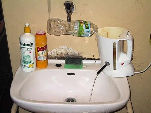 Mac,Gyver,eau,chaude