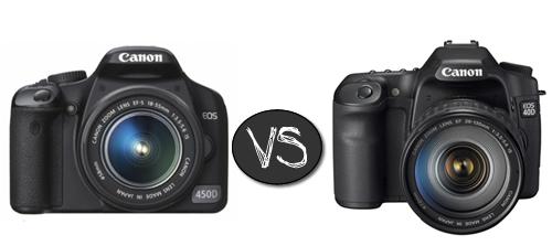 réflex canon 450D vs 40D